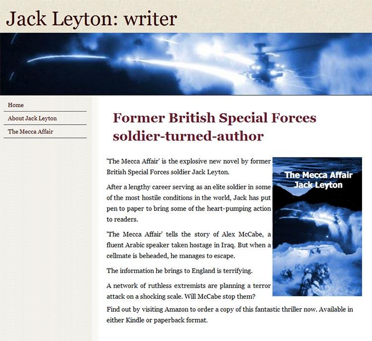 Jack Leyton author website
